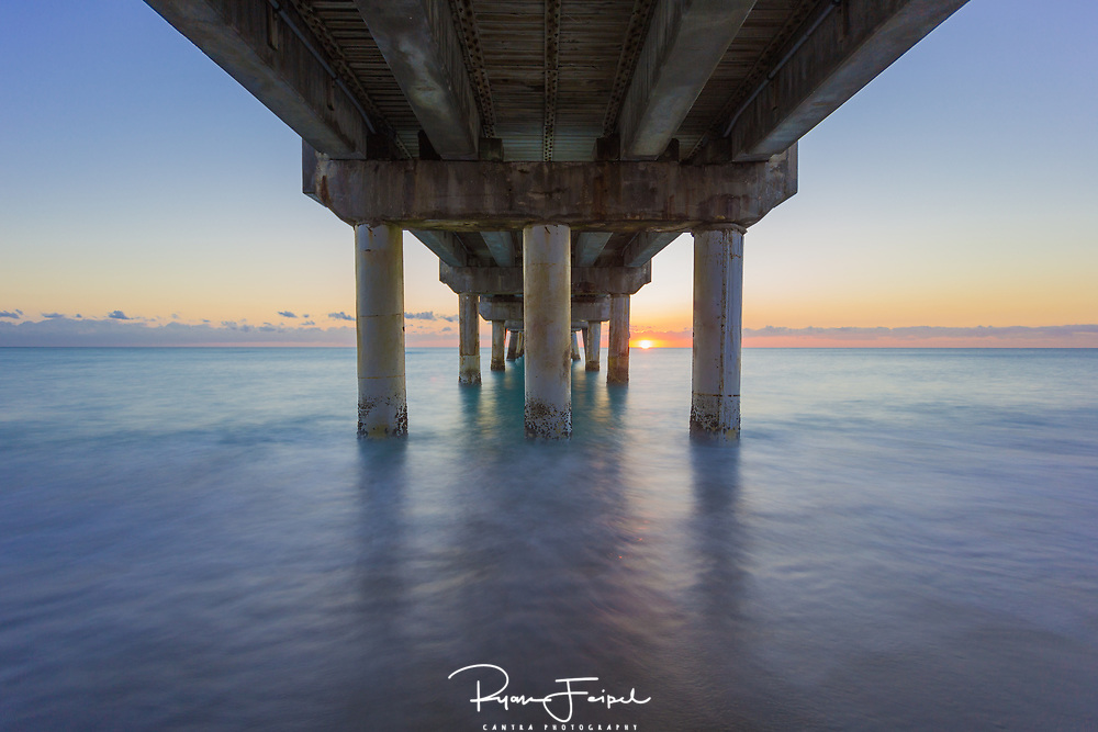 Just down from Palm Beach Florida is the little sleepy town of Lake Worth.  I found this pier earlier and wondered how a morning shot would turn out.  I got a beach cruiser and road over early in the morning before light.  I set up the tripod right in the surf and waited for the show.  I spent the rest of the day cleaning out sand and salt water from my equipment but I think it was worth the work.