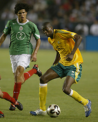 Jul 08, 2005; Carson, CA, USA; (2) Francisco Rodriguez  of Mexico (L) tries to stop (19) Lucas Thwala  of South Africa as he controhte ball during the second half of their Confederation of North, Central American and Caribbean Association Football (CONCACAF) Gold Cup soccer match in Carson, California July 8, 2005 South Africa won the game 2 to 1 Mandatory Credit: Photo by Armando Arorizo/ZUMA Press. (©) Copyright 2005 by Armando Arorizo