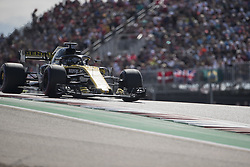 October 21, 2018 - Austin, USA - Renault Sport driver Nico Hulkenberg (27) of Germany heads toward Turn 2 during the Formula 1 U.S. Grand Prix at the Circuit of the Americas in Austin, Texas on Sunday, Oct. 21, 2018. (Credit Image: © Scott Coleman/ZUMA Wire)