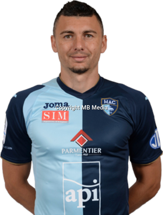 DUHAMEL Mathieu during photocall of Le Havre AC for new season of Ligue 2 on September 29th 2016<br /> Photo : Lelaidier / Hac / Icon Sport