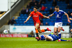 Nathan Tyson of Wycombe Wanderers is fouled by Joe Rowley of Chesterfield - Mandatory by-line: Robbie Stephenson/JMP - 28/04/2018 - FOOTBALL - Proact Stadium - Chesterfield, England - Chesterfield v Wycombe Wanderers - Sky Bet League Two