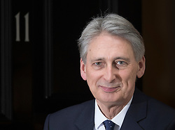 © Licensed to London News Pictures. 31/01/2017. London, UK. Chancellor Philip Hammond leaves Downing Street for Parliament. The European Union withdrawal bill will be debated today.Photo credit: Peter Macdiarmid/LNP