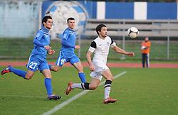 Mario Sacer #77 of ND Mura 05 during football match between ND Gorica and ND Mura 05 in 20th Round of Prva liga NZS 2012/13, on November 24, 2012 in Nova Gorica, Murska Sobota, Slovenia. (Photo by Ales Cipot / Sportida).