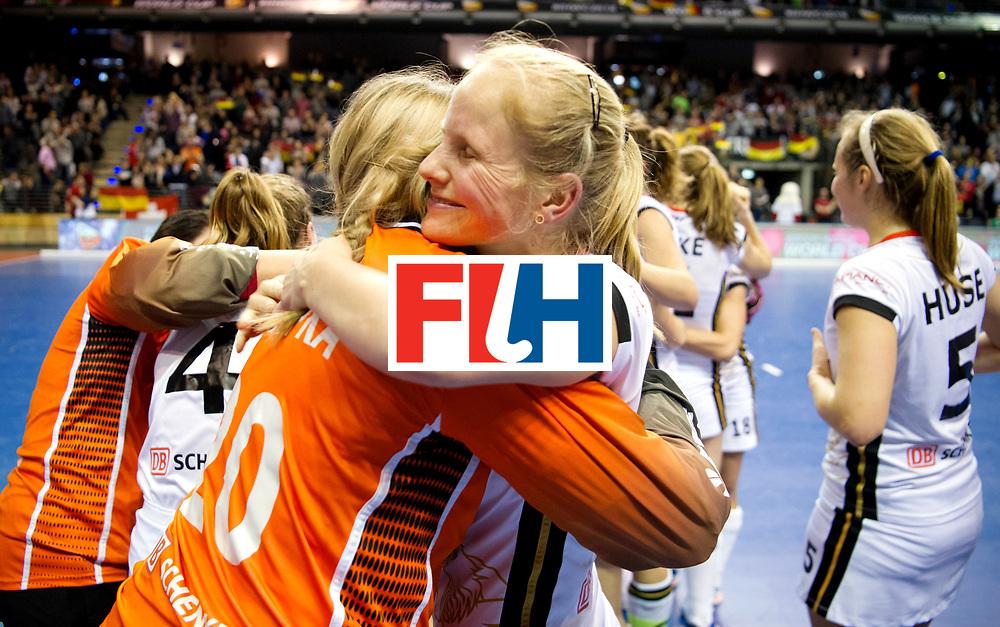 BERLIN - Indoor Hockey World Cup<br /> Semi-final: Belarus - Germany<br /> foto: SCHLENKER Friderike.<br /> WORLDSPORTPICS COPYRIGHT FRANK UIJLENBROEK