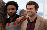 Donald Glover and Alden Ehrenreich at the Solo: A Star Wars Story film photo call at the 71st Cannes Film Festival, Tuesday 15th May 2018, Cannes, France. Photo credit: Doreen Kennedy