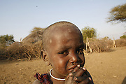 TANZANIA. Oltepes (Maasai Village). .Longido Mountain Area..August 3rd 2009.