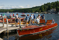 Antique Boat Show in Alton Bay, NH.  Karen Bobotas for the Laconia Daily Sun