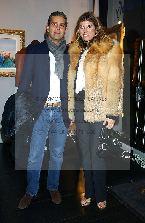 VIVIA FERRAGAMO and ALESSANDRO ATTOLICO at the opening of an exhibition of paintings and watercolours by Raoul Dufy held at the Opera Gallery, 134 New Bond Street, London W1 on 6th February 2006.<br />