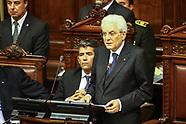 Pte de Italia Sergio Mattarella en el Palacio Legislativo