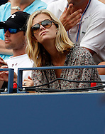 US Open 2011, USTA Billie Jean King National Tennis Center, Flushing Meadows, New York,ITF Grand Slam Tennis Tournament,Brooklyn Decker Ehefrau von Andy Roddick in der Spieler Loge als Zuschauer,