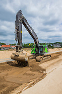 Volvo EC380E crawler excavator modified to work on flood protection in the dutch Cortenoever. Photo: Erik Luntang