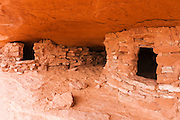 Anasazi granaries on Aztec Butte, Island in the Sky, Canyonlands National Park, Utah USA