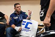DALLAS, TX - MARCH 14:  Rafael Dos Anjos has his hands wrapped before fighting UFC lightweight champion Anthony Pettis during UFC 185 at the American Airlines Center on March 14, 2015 in Dallas, Texas. (Photo by Cooper Neill/Zuffa LLC/Zuffa LLC via Getty Images) *** Local Caption *** Rafael Dos Anjos