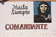 Image of Ernesto Che Guevara in Puente de Cabezas, Pinar del Rio, Cuba.