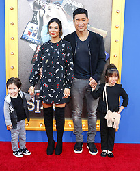 Mario Lopez and Courtney Laine Mazza at the Los Angeles premiere of 'Sing' held at the Microsoft Theater in Los Angeles, USA on December 3, 2016.