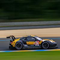#56, Team Project 1, Porsche 911 RSR, LMGTE Am, driven by:  Jorg Bergmeister, Patrick Lindsey, Egidio Perfetti, 24 Heures Du Mans  2018, , 14/06/2018,