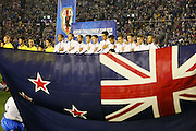 All Whites during National Anthem before the match (NZL), <br /> MARCH 5, 2014 - Football /Soccer : <br /> Kirin Challenge Cup 2014<br /> between Japan 4-2 New Zealand <br /> at National Stadium, Tokyo, Japan. <br /> (Photo by YUTAKA/AFLO SPORT)