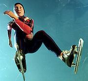 Portrait of Olympic gold medalist speedskater Chris Witty