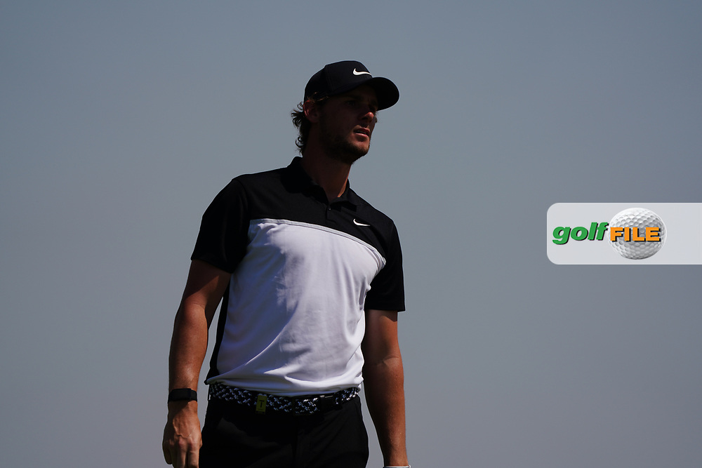 Thomas Pieters (BEL) on the 3rd during Round 2 of the Commercial Bank Qatar Masters 2020 at the Education City Golf Club, Doha, Qatar . 06/03/2020<br /> Picture: Golffile | Thos Caffrey<br /> <br /> <br /> All photo usage must carry mandatory copyright credit (© Golffile | Thos Caffrey)