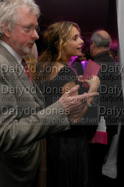 Maryam D'Abo and Hugh Hudson. Moet champagne reception, FAST FORWARD - a fundraising event for the National Theatre,  The former Saatchi Gallery, London NW8. 24 February 2005. ONE TIME USE ONLY - DO NOT ARCHIVE  © Copyright Photograph by Dafydd Jones 66 Stockwell Park Rd. London SW9 0DA Tel 020 7733 0108 www.dafjones.com