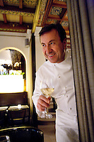 Chef Daniel Boulud, in his French restaurant Daniel, NYC.