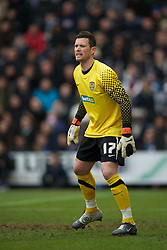 NOTTINGHAM, ENGLAND - Sunday, January 30, 2011: Notts County's goalkeeper Stuart Nelson during the FA Cup 4th Round match at Meadow Lane. (Photo by David Rawcliffe/Propaganda)