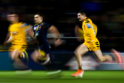 Jono Kitto of Worcester Cavaliers and Owain James of Wasps A chase after the ball - Mandatory by-line: Robbie Stephenson/JMP - 16/12/2019 - RUGBY - Sixways Stadium - Worcester, England - Worcester Cavaliers v Wasps A - Premiership Rugby Shield