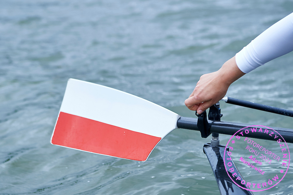 Polish oars during second day the 2015 European Rowing Championships on Malta Lake on May 30, 2015 in Poznan, Poland<br /> Poland, Poznan, May 30, 2015<br /> <br /> Picture also available in RAW (NEF) or TIFF format on special request.<br /> <br /> For editorial use only. Any commercial or promotional use requires permission.<br /> <br /> Mandatory credit:<br /> Photo by &copy; Adam Nurkiewicz / Mediasport