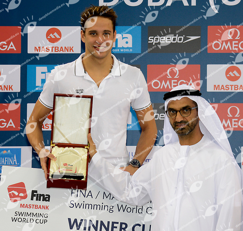 Chad Le Clos South Africa<br /> FINA Mastbank Swimming World Cup 2014<br /> Dubai, UAE  2014  Aug.31 th - Sept.1st<br /> Day2 - Sept.1  finals<br /> Photo G. Scala/Deepbluemedia