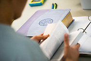 Youth Corps participants reference scripture and other resources during a Gospel Seeds training session at the 2014 Youth Corps pilot project at Shepherd of the City Lutheran Church on Tuesday, August 12, 2014, in Philadelphia, Pa. LCMS Communications/Erik M. Lunsford