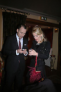 David Furnish and Daphne guinness, Valentino couture show, Ecole Nationale Superiore des Beaux -Arts, rue Bonaparte. After party at the Ritz. 23 January  2006.  ONE TIME USE ONLY - DO NOT ARCHIVE  © Copyright Photograph by Dafydd Jones 66 Stockwell Park Rd. London SW9 0DA Tel 020 7733 0108 www.dafjones.com