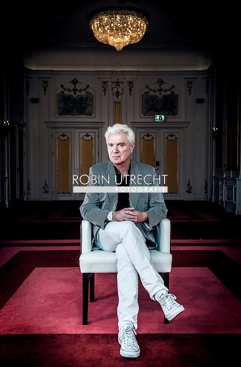 AMSTERDAM - David Byrne (born 14 May 1952) is a Scottish  musician and a founding member and principal songwriter of the American new wave band Talking Heads, active between 1975 and 1991. COPYRIGHT ROBIN UTRECHT