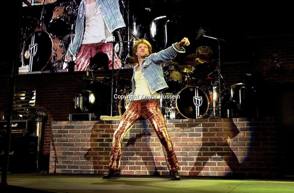 Jon Bon Jovi in Concert in Dallas,Texas in 2001. ..