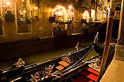 Venice 2007 - Gondolas on the  Canal...