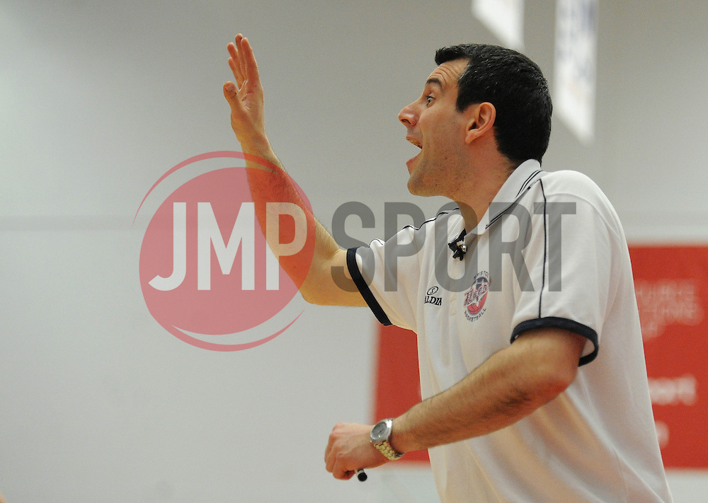 Bristol Flyers head coach, Andreas Kapoulas - Photo mandatory by-line: Robbie Stephenson/JMP - Mobile: 07966 386802 - 18/04/2015 - SPORT - Basketball - Bristol - SGS Wise Campus - Bristol Flyers v Leeds Force - British Basketball League