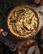 Roasted shallot, rosemary and ricotta tart, Brechin