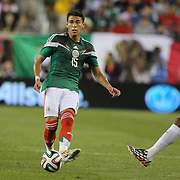 Héctor Moreno, Mexico, in action during the Portugal V Mexico International Friendly match in preparation for the 2014 FIFA World Cup in Brazil. Gillette Stadium, Boston (Foxborough), Massachusetts, USA. 6th June 2014. Photo Tim Clayton