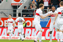 12.03.2016, Audi Sportpark, Ingolstadt, GER, 1. FBL, FC Ingolstadt 04 vs VfB Stuttgart, 26. Runde, im Bild Jubel nach dem schnellen Ausgleich zum 1:1 durch Filip Kostic (Nr.18,VfB Stuttgart), AusgleichFC Ingolstadt 04 - VfB Stuttgart, 1. Bundesliga, Fussball, Spieltag 2, 12.03.2016, Foto: Eibner, Oliver STRISCH // during the German Bundesliga 26th round match between FC Ingolstadt 04 and VfB Stuttgart at the Audi Sportpark in Ingolstadt, Germany on 2016/03/12. EXPA Pictures © 2016, PhotoCredit: EXPA/ Eibner-Pressefoto/ Strisch<br /> <br /> *****ATTENTION - OUT of GER*****