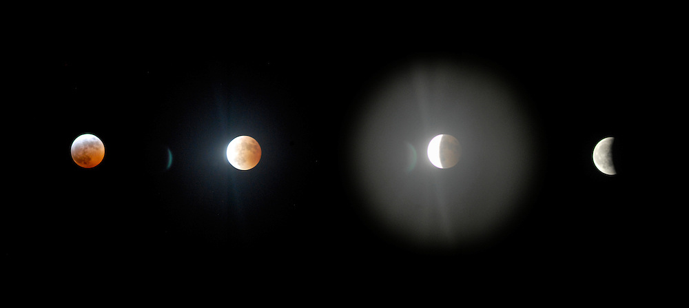 The lunar eclipse in 2010 as seen from London.