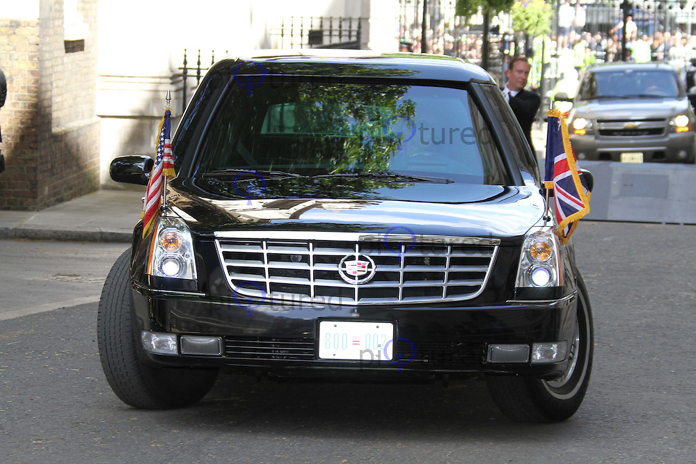 President Obama\'s Cadillac Presidential Limousine, nicknamed &quot ...