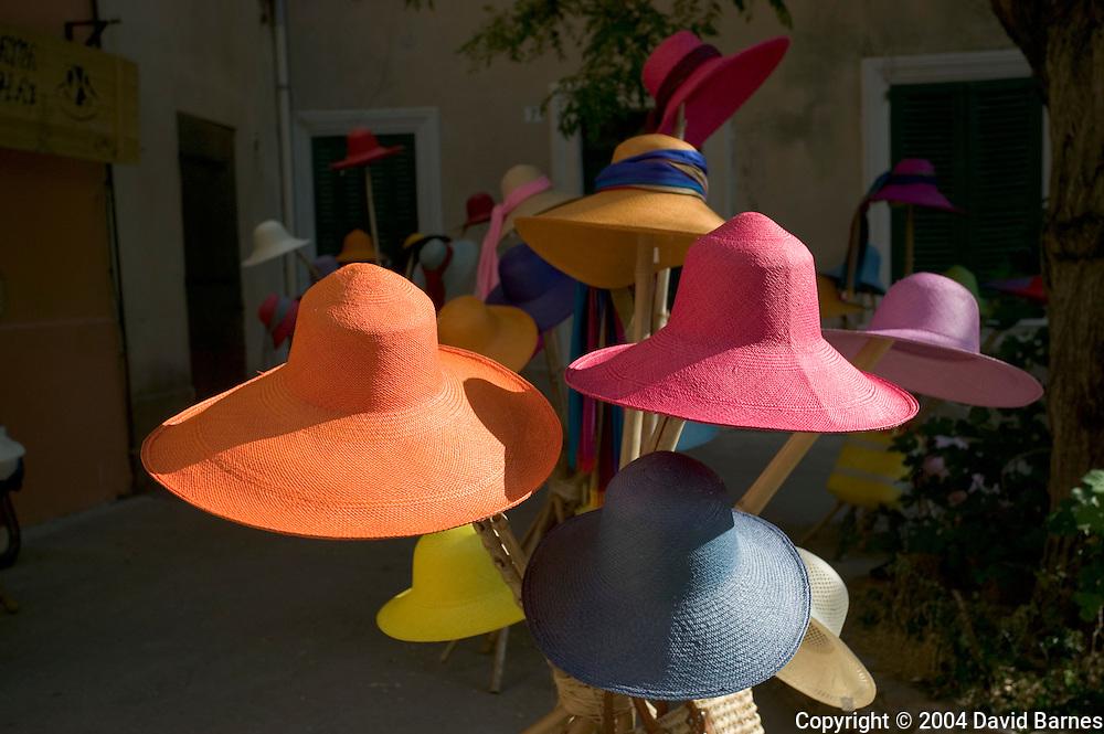 Hat shop, Saint Tropez, Var, Cote d'Azur, France