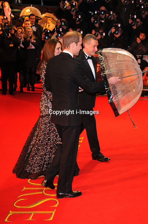 Prince William, Duke of Cambridge and Catherine, Duchess of Cambridge attend the UK premiere of War Horse at Odeon Leicester Square, London, Sunday January 8, 2012. Photo By i-Images..