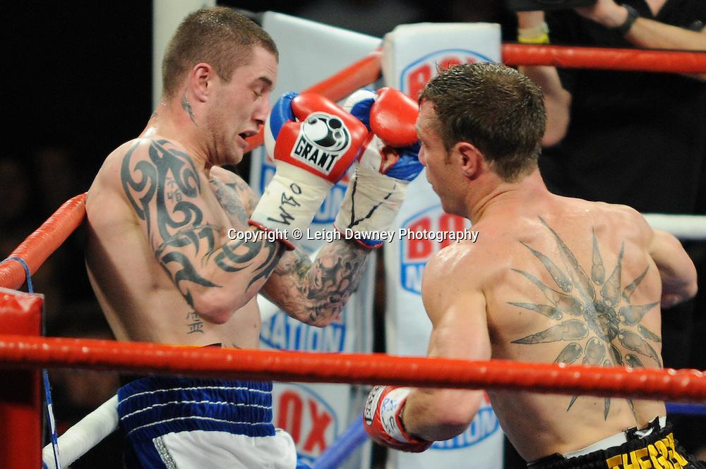 Ricky Burns defeats Michael Katsidis for WBO Lightweight Title at Wembley Arena on the 05.11.11. Promoter Frank Warren.Photo credit: © Leigh Dawney 2011.