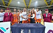 Premiazione Banco di Sardegna Dinamo Sassari<br /> Banco di Sardegna Dinamo Sassari - Anadolu Efes Istanbul<br /> Finale Torneo Airitaly 2019<br /> Olbia, 01/09/2019<br /> Foto L.Canu / Ciamillo-Castoria