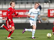 FODBOLD: Måns Herrmann (FC Helsingør) følges af Simon Vollesen (Lyngby BK) under kampen i Reserveligaen mellem Lyngby Boldklub og FC Helsingør den 11. september 2017 på Lyngby Stadion. Foto: Claus Birch