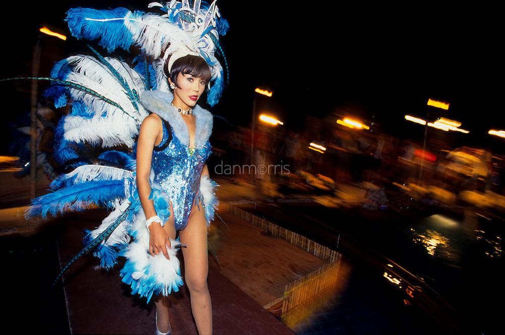 Transvestite Simon Cabaret Dancer, Patong Beach, Phuket, Thailand