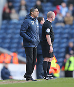 Brighton manager Chris Hughton during the Sky Bet Championship match between Blackburn Rovers and Brighton and Hove Albion at Ewood Park, Blackburn, England on 21 March 2015.