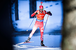 Ole Einar Bjoerndalen (NOR) competes during Men 12,5 km Pursuit at day 3 of IBU Biathlon World Cup 2015/16 Pokljuka, on December 19, 2015 in Rudno polje, Pokljuka, Slovenia. Photo by Ziga Zupan / Sportida