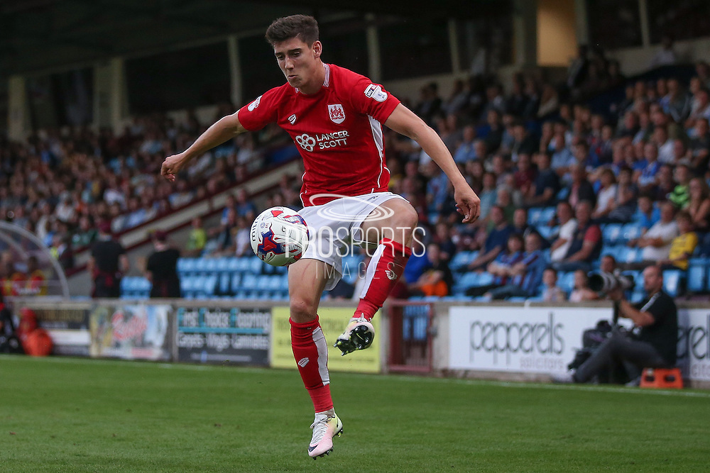 Bristol City midfielder Callum O'Dowda (11) controls the ball during the EFL Cup match between Scunthorpe United and Bristol City at Glanford Park, Scunthorpe, England on 23 August 2016. Photo by Simon Davies.