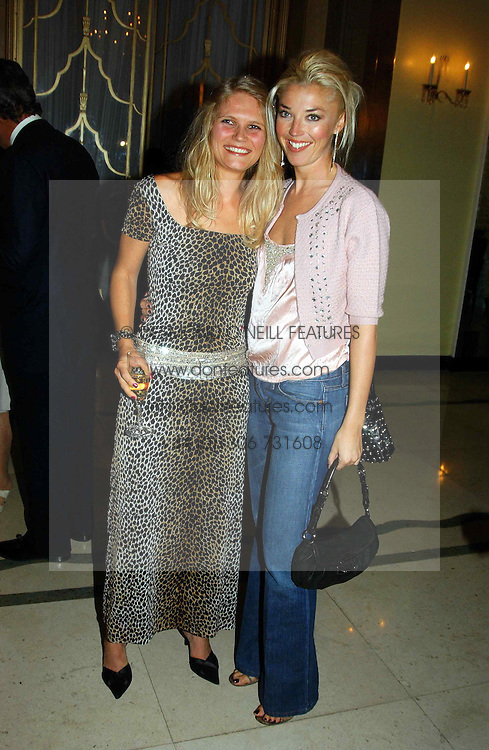 "Left to right, ARABELLA TOBIAS and TAMARA BECKWITH at a party to celebrate the publication of Bruce Oldfield's autobiography ""Rootless"" held in aid of Crimestoppers at Claridge's, Brook Street, London W1 on 22nd September 2004.<br />